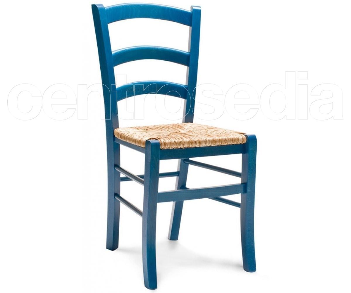 Anita sedia legno rustico colorata seduta paglia sedie legno